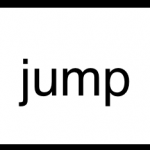Sight word Jump Black