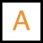 Tangerine Orange Flashcards Letter A