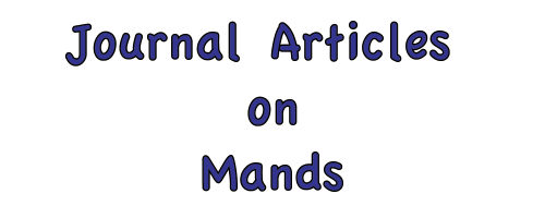 Journal Articles on Mands
