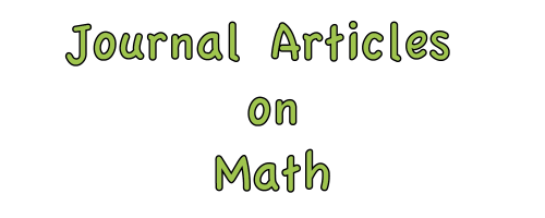 Journal Articles on Math