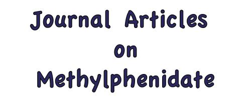 Journal Articles on Methylphenidates