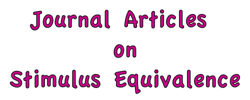 journal articles_Journal Articles on Stimulus Equivalence